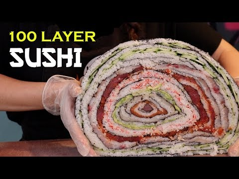 100 LAYER SUSHI ROLL