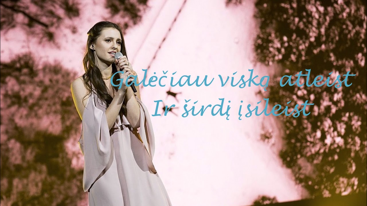 ieva-zasimauskaite-kol-myliu-lyrics-video-eurovision-lithuania