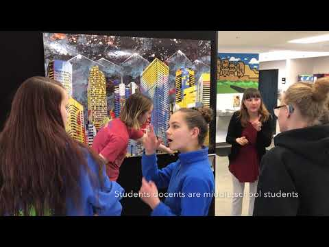 CherryArts Mobile Art Gallery on tour at Rocky Mountain Deaf School​