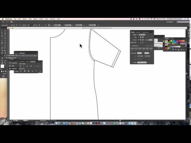Basic Fashion Flat Drawing On Adobe Illustrator For Fashion Designers Youtube