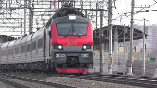 Электровоз ЭП20-050 со скорым поездом №70 Липецк - Москва