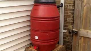 Rain Barrel Conversion Using EarthMinded DIY Rain Barrel Diverter & Parts Kit