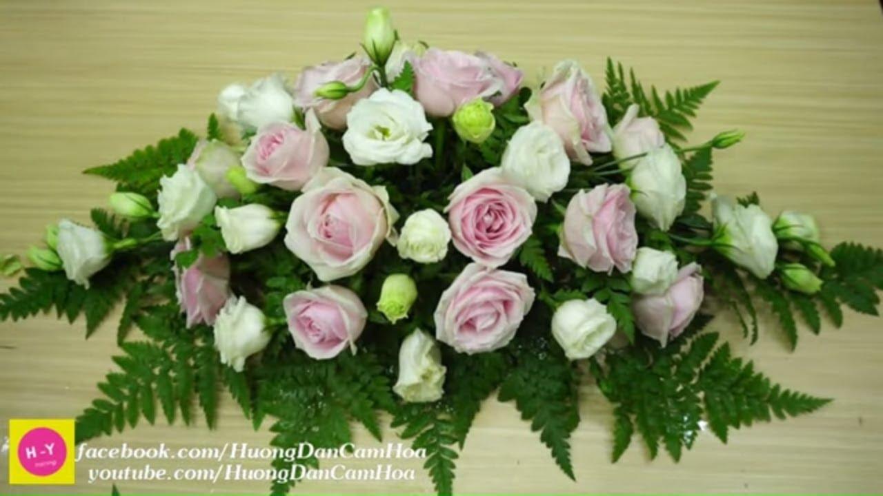 Cách cắm hoa để bàn đẹp HOA HỒNG SWEET AVALANCH ,Hoa cát tường Đà Lạt