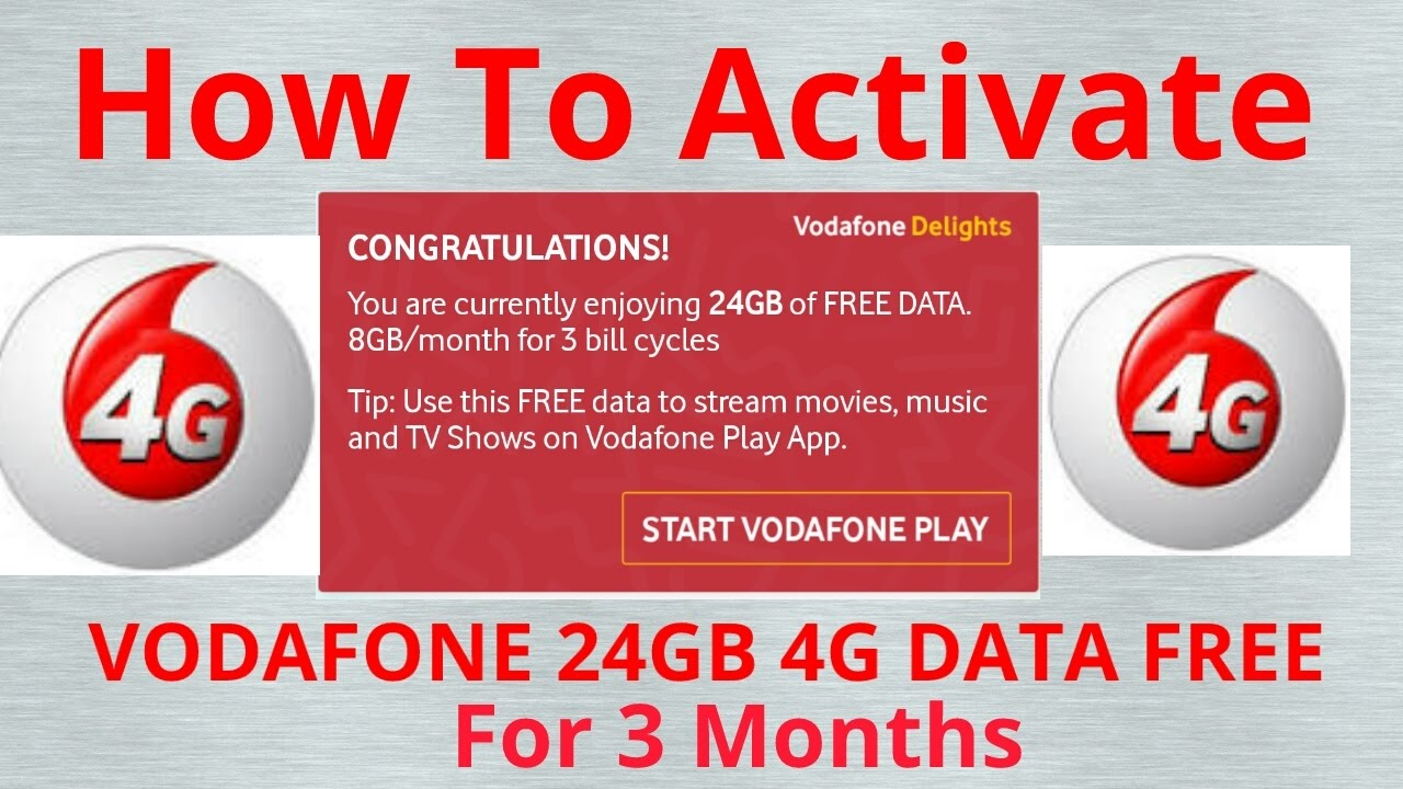 how to get free vodafone internet on your phone