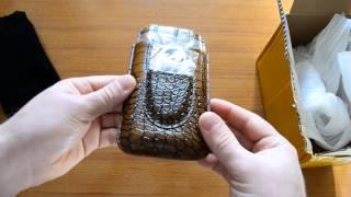 Розпакування портсигари для сигар з ''шкіри'' :) + ніж-гільйотина