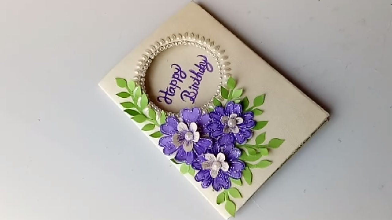 Beautiful handmade birthday card idea diy greeting cards for beautiful handmade birthday card idea diy greeting cards for birthday m4hsunfo