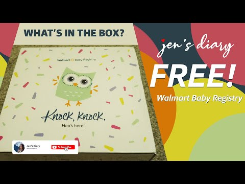 What's in the box? | Walmart Free! Baby Registry Gift Unboxing
