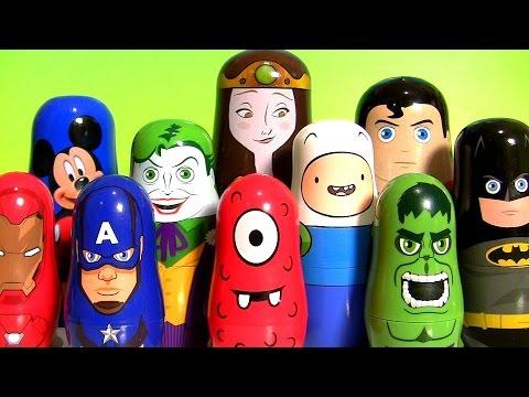 Marvel Team Captain America Civil War Stacking Cups Justice League Superman vs. Batman Hulk toys