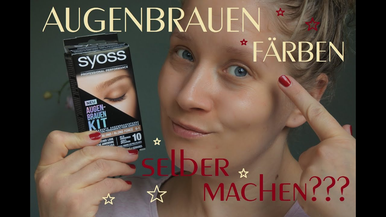Syoss augenbrauenfarbe
