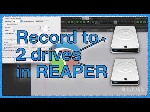Automatic Recording Backup in REAPER - Record to 2 drives at once