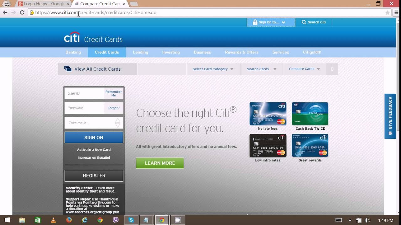 Citicards Online Login >> Citicard Login - Citibank Login problem | Citibank Online - YouTube
