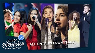 All Junior Eurovision entries from Italy! 🇮🇹