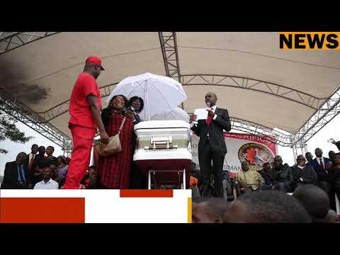 Former President Robert Mugabe send condolonce message to Tsvangirai Family