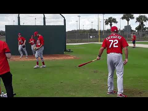 The Fast Lane at Spring Training 2020 : Jack Flaherty during Pitcher Fielding Practice