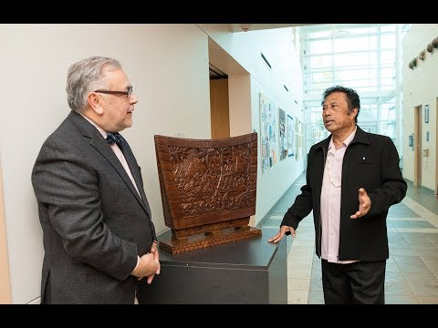 President Tommy Remengesau explains Palau Art