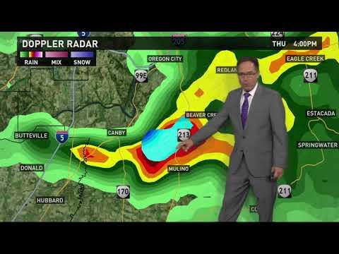 Tornado Warning issued in Clackamas County