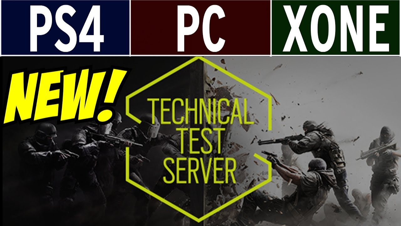 Rainbow Six Siege TTS CONSOLES Invite to PC! Technical Test Server PS4 Xbox  One PC