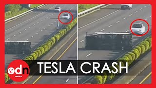 Tesla on Autopilot Crashes into Overturned Truck on Busy Highway in Taiwan