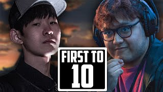 PLAYING AGAINST THE BEST PLAYER IN THE WORLD (MKLeo ft10)