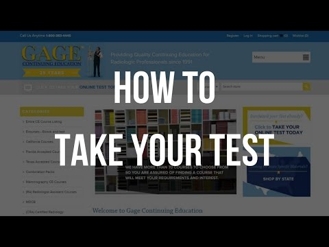 How to Take your Online Radiology CE Test with Gage CE