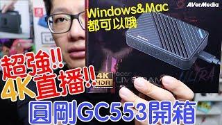 【開箱趣】4K直播時代 圓剛GC553擷取盒開箱 享受低延遲加上高畫質!!〈羅卡Rocca〉
