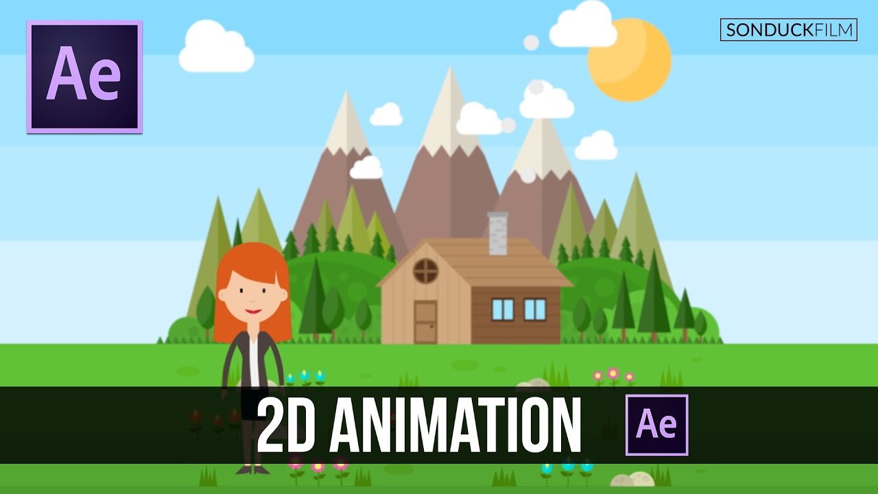 After effects tutorial easy 2d animation
