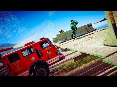 4-Player Water Vs Snipers - GTA V Online Funny Moments | JeromeACE
