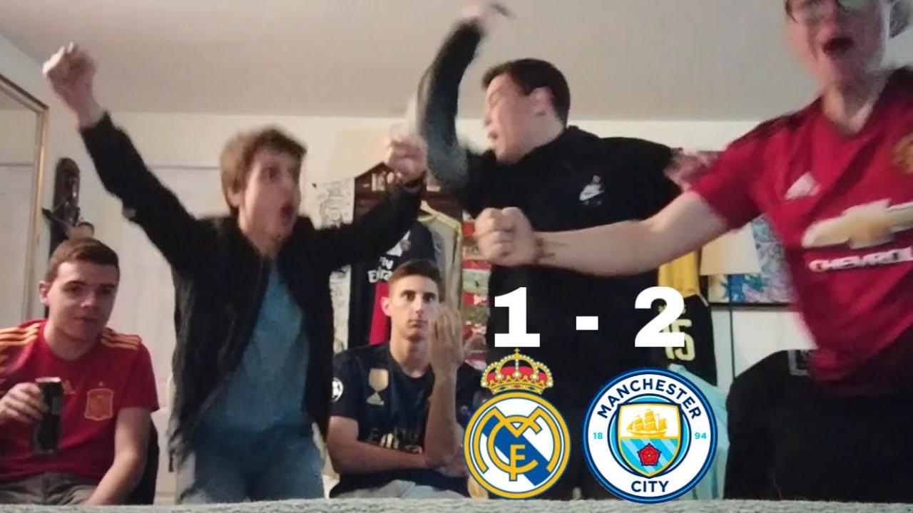 Real Madrid v/s Manchester City 1-2 REACCIONES DE HINCHAS