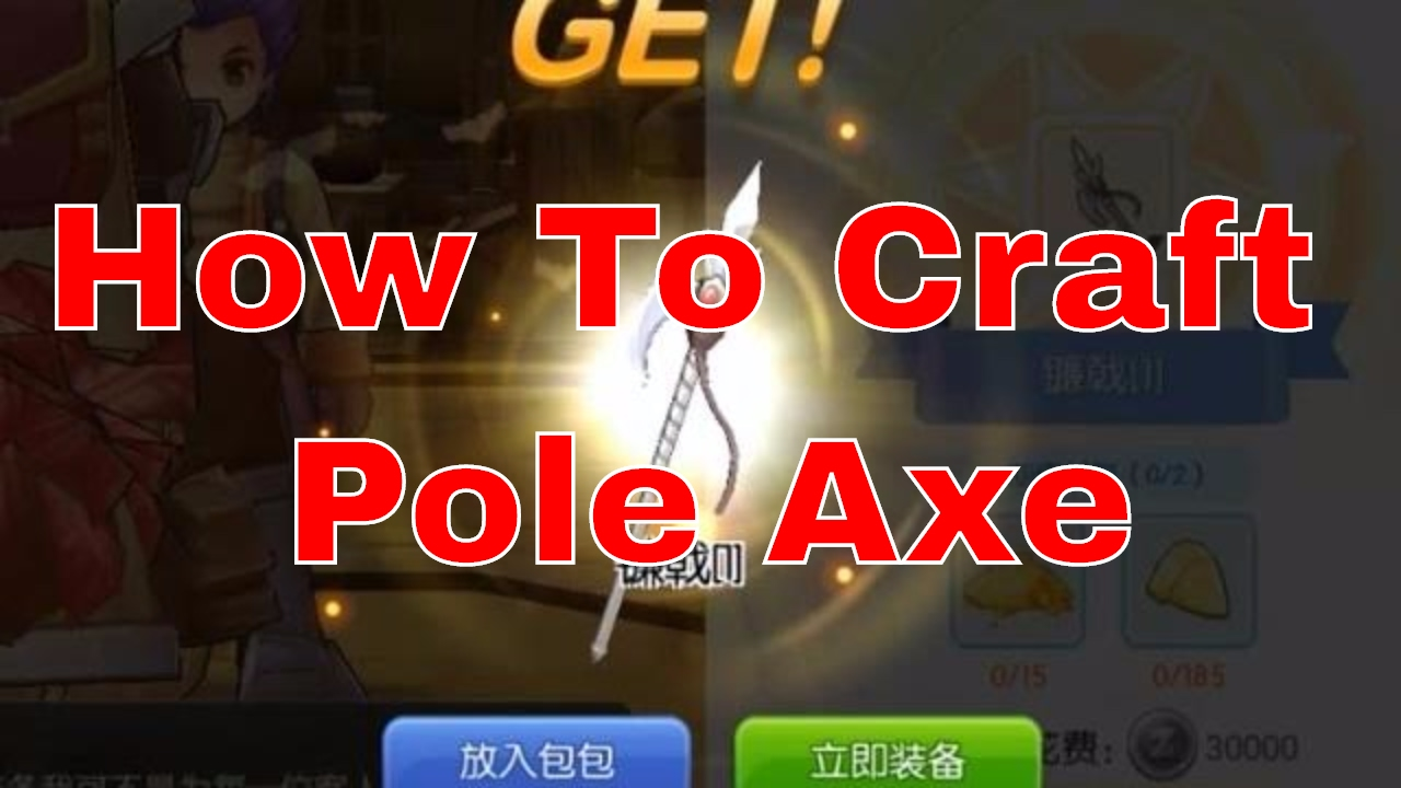GunburnTV | RAGNAROK M: [CN] - HOW TO CRAFT POLE AXE
