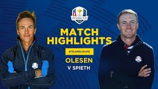 Olesen vs Spieth | Ryder Cup Sunday Singles Highlights