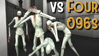 SCP Containment Breach - Playing vs Four Triggered 096s