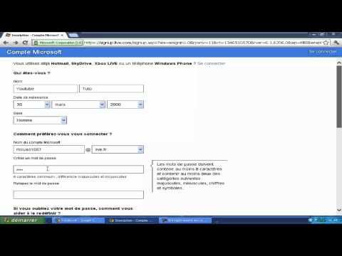 Comment Créer Un Compte Hotmail thumbnail
