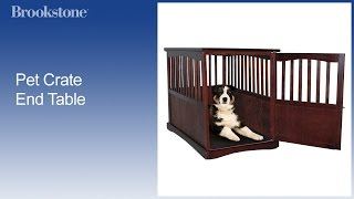 Overview: Pet Crate End Table