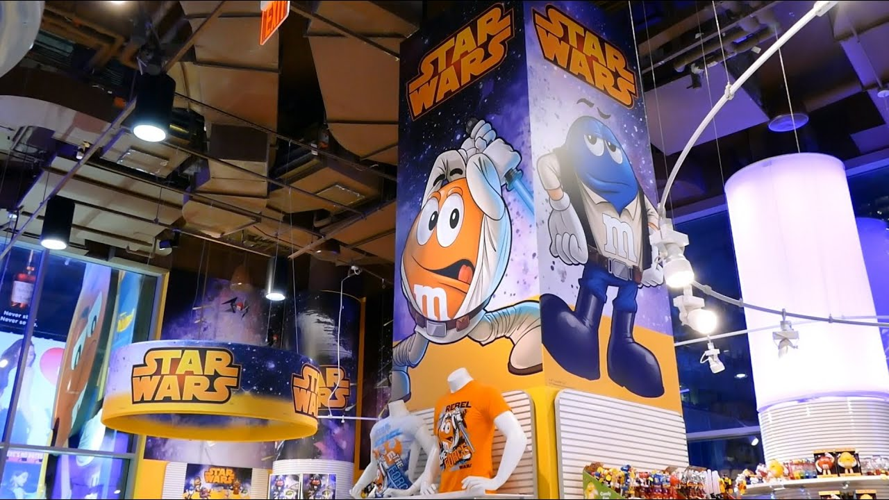 star wars meets mms world the force awakens in mms candy store new york city