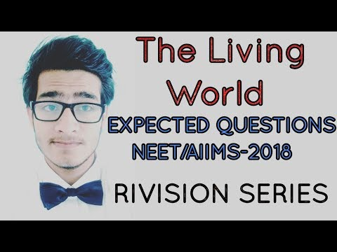 Expected questions from chapter living world for NEET AIIMS JIPMER 2018