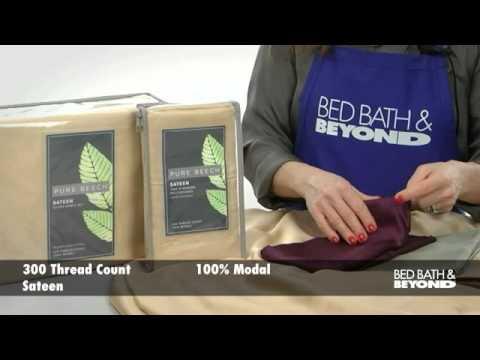 Pure Beech Sateen Sheet Set At Bed Bath Beyond Youtube