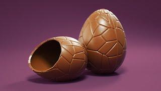 C4D Easter Egg Modeling - Cinema 4D Tutorial (Free Project)