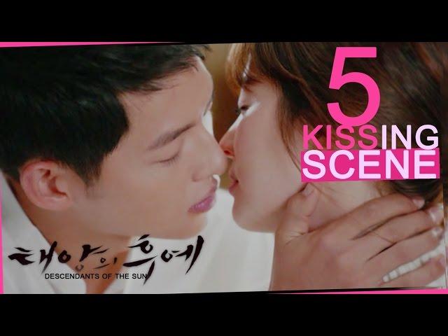 [Highlight] 5 Kiss Scene! SongJoongki ♥ SongHyeKyo in 태양의 후예