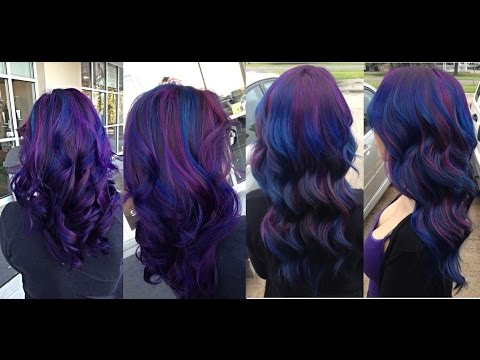 How To Dye Hair Blue Purple Unicorn Ombre Hair Youtube