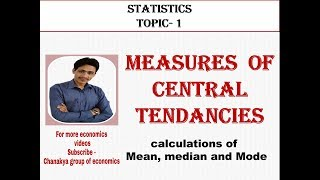 #1. Measures of central tenancy, statistics topic - 1