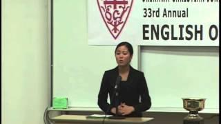 沖縄キリスト教学院大学 沖縄キリスト教短期大学 英語弁論大会2013(第2位 小磯 絵梨奈さん)