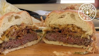 Queso Fundido Burger | Mexican Cheese Burger Recipe