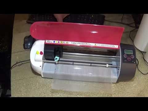 Graphtec Craft Robo Cutting Vinyl Lettering Youtube