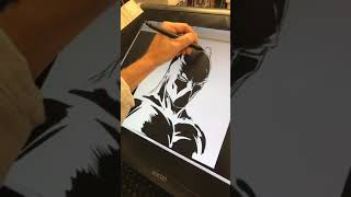 Live Drawing of Black Panther