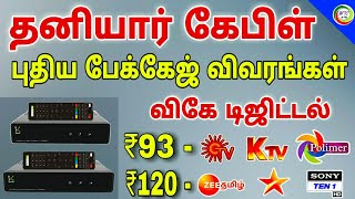 CABLE TV new package list || for Tamil || TECH TV TAMIL