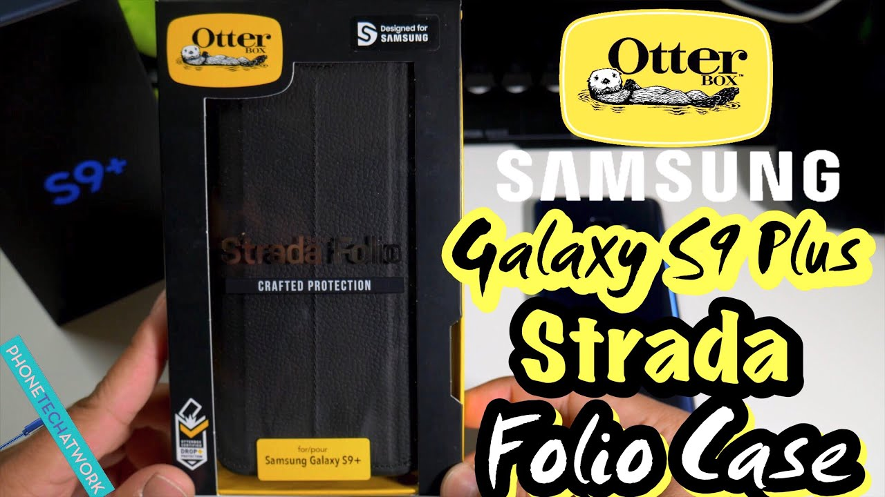 info for 85b12 00771 Samsung Galaxy S9 Plus Otterbox Strada Leather Folio Case! Business Casual  With Drop Protection