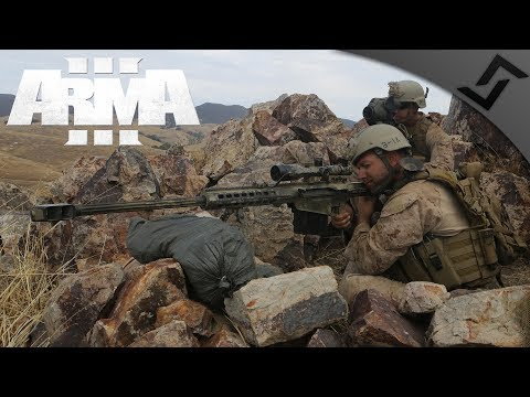 .50 cal Sniper Team Behind Enemy Lines - ARMA 3 - 3rd Ranger Battalion Main Op - 1st Person Gameplay