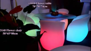 Led flower table hot sale event table furniture party chair