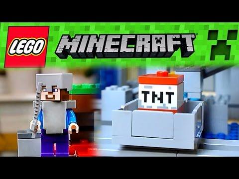 """LEGO Minecraft """"Mine"""" (Minenschacht) - Unboxing & Review (Deutsch)"""