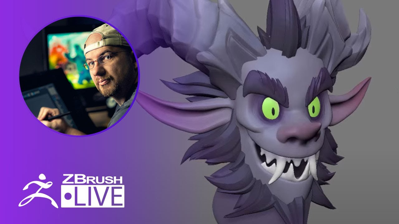 Download Sculpting a Stylized Krampus Character in ZBrush ! - Shane Olson - Part 2